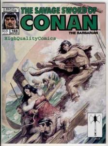 SAVAGE SWORD of CONAN #168, VF+/NM, Ernie Chan, Earl Norem, more SSOC in store