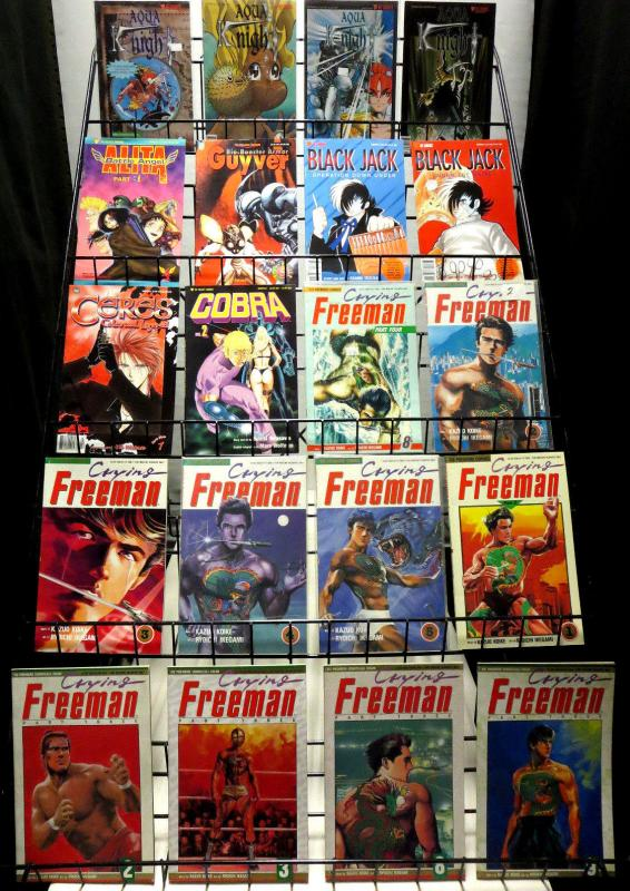 VIZ MANGA COLLECTION 75 diff comics!1980s-1990s Crying Freeman Striker Ranma+++