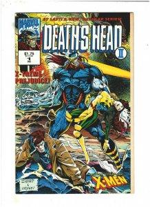 Death's Head II #1 NM- 9.2 Volume 2 Marvel UK Comics 1992 X-Men app.