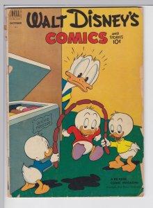 Walt Disney Comics and Stories 145 - Oct 1952 GD- Dell