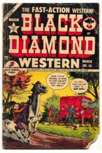 Black Diamond Western #43 1953- golden age reading copy