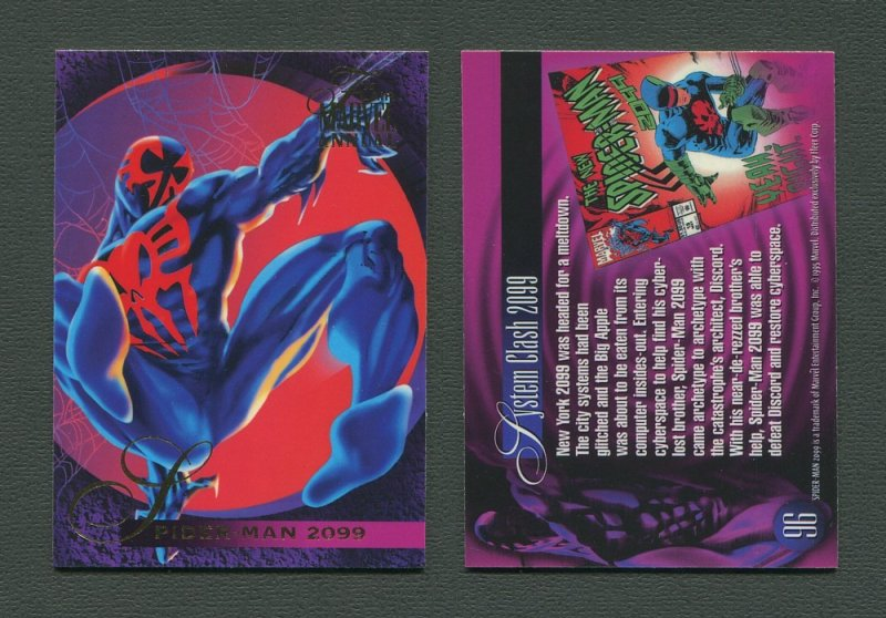 1995 Flair Marvel Annual Card #96 (Spider-Man 2099)  MINT