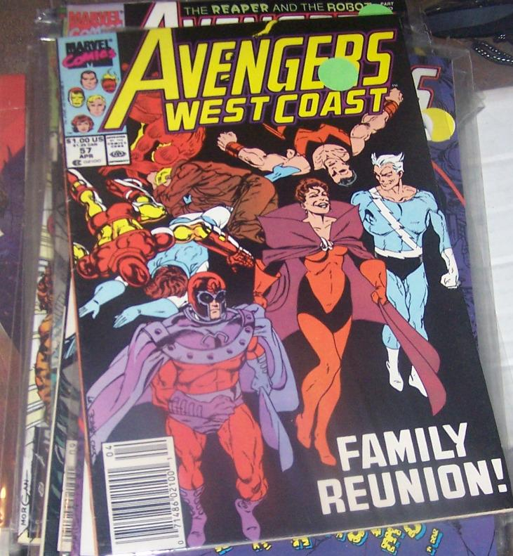 west coast avengers  # 57 APR 1990 MAGNETO SCARLET WITCH QUICKSILVER+DISASSEMBLE