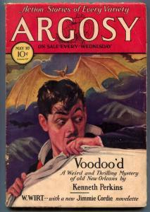 Argosy Pulp May 19 1930- VooDoo'd- Jimmie Cordie VG