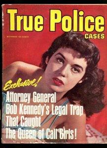 TRUE POLICE CASES-10/1963-BULLET IN BACK-PREACHER'S LOVE AFFAIR-MOW COP C VG