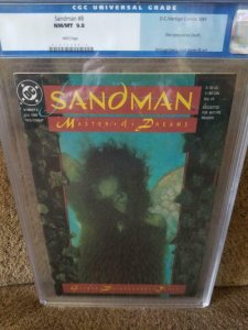 SANDMAN #8, CGC = 9.8, NM/M, 1st Death, Neil Gaiman, 1989, old CGC label