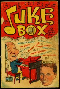Juke Box Comics #4 1948- Jimmy Durante- Famous Funnies POOR