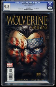 Wolverine: Origins #2 CGC NM/M 9.8 White Pages