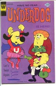 Underdog #4 1975 -Whitman-rare variant-based on TV series-VG+