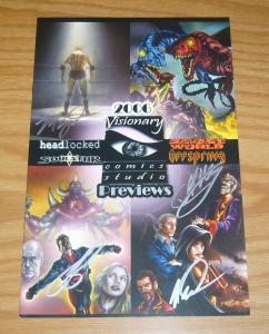 Visionary Comics Studio Previews 2006 VF/NM headlocked work of art - signed!