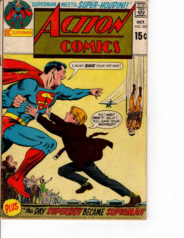 DC Action Comics (1938 Series) #393 October 1970 VG/F