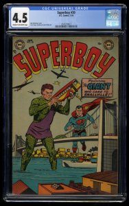 Superboy #30 CGC VG+ 4.5 Cream To Off White DC Comics Superman