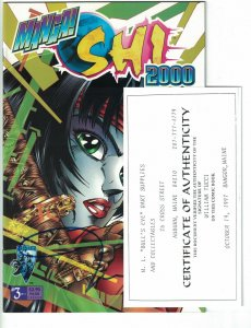 Manga Shi 2000 #3 VF/NM signed by Bill Tucci w/COA - Crusade Comics - Tomoe