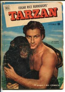TARZAN #24-1951-DELL-BURROUGHS-MARSH-LEX BARKER PHOTO COVER-good