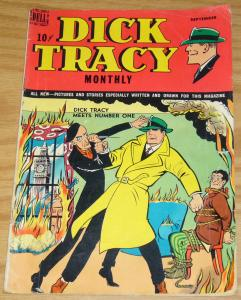 Dick Tracy Monthly #21 VG- september 1949 - golden age dell comics  number one