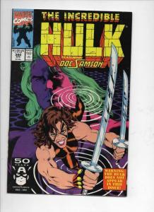 Incredible HULK #380, VF/NM, Samson, Bruce Banner, 1968 1991, Marvel