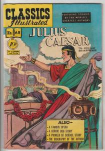 Classics Illustrated #68 (Feb-50) FN- Mid-Grade Julius Ceaser, Brutus