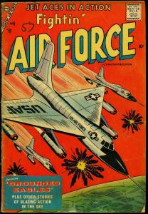 Fightin' Air Force #8 1957- Charlton War Comic- Grounded Eagles VG