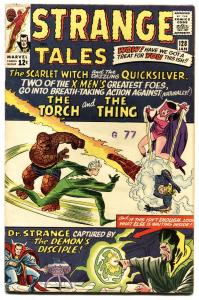STRANGE TALES #128-JACK KIRBY-HUMAN TORCH-SILVER AGE-MARVEL fn/vf