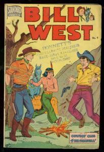 BILL WEST #9 1951-WESTERN COMIC-JOHN CELARDO VG
