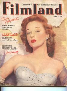 Filmland-Susan Hayward-Errol Flynn-Rock Hudson-Kirk Douglas-June-1952