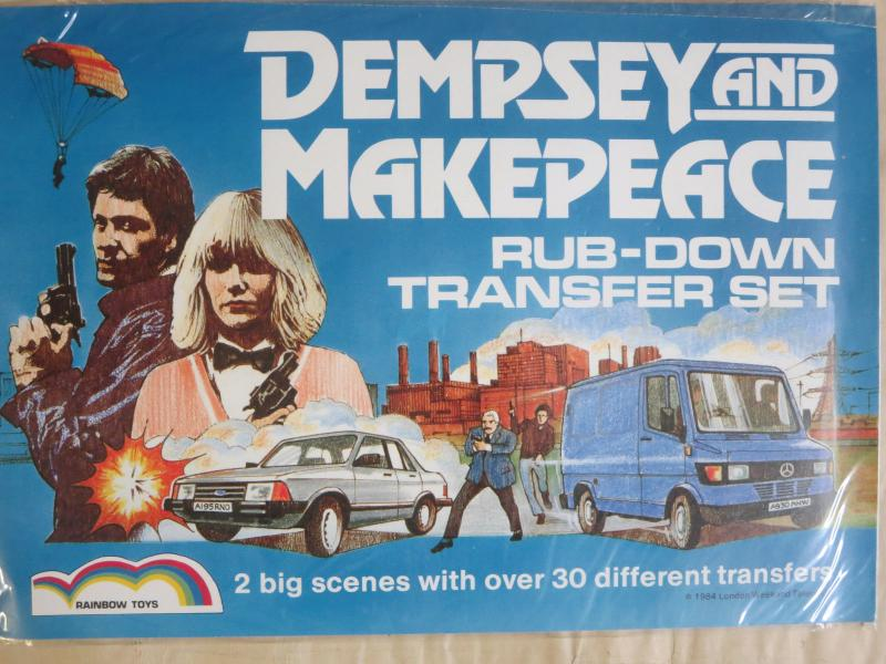 Dempsey and Makepeace Rub-Down Transfer Set 1980s British Crime Drama!