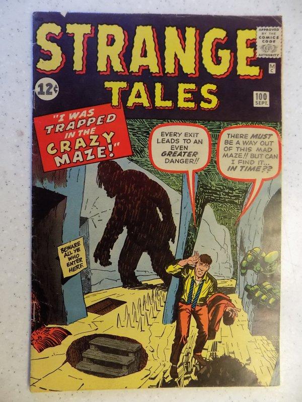 STRANGE TALES # 100 MARVEL SILVER LAST PRE HERO ISSUE HORROR MYSTERY KIRBY