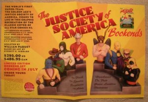 JUSTICE SOCIETY OF AMERICA BOOKEND Promo poster, Unused, more in our store
