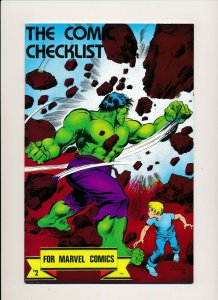 The Comic Checklist for Marvel Comics VERY FINE/NEAR MINT (UNMARKED) (PF941)