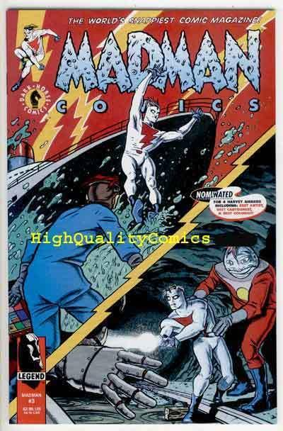 MADMAN #3, NM+, Mike Allred 1994, Robot , Alex Toth, more in store