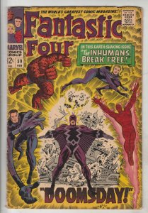 Fantastic Four #59 (Feb-67) FN/VF Mid-High-Grade Fantastic Four, Mr. Fantasti...