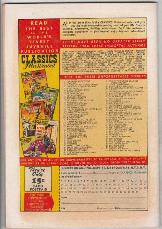 Classic Comics #86 (Aug-51) VF/NM High-Grade
