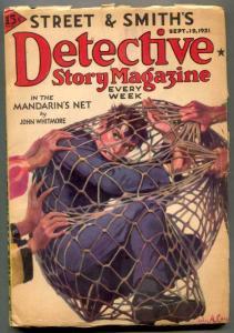 Detective Story Pulp September 19 1931- Mandarin's Net