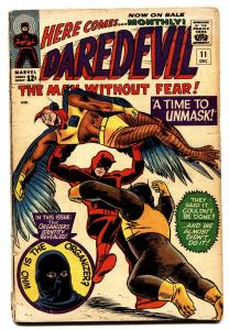 DAREDEVIL-#11 comic book-THE ORGANIZER marvel silver-age 1965