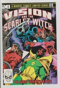 VISION & the SCARLET WITCH #3 VF/NM 1983 MARVEL COMICS WONDER MAN / GRIM REAPER