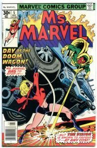 MS MARVEL #5, FN/VF, Jim Mooney, Claremont, 1977, Bronze age, more Marvel in sto