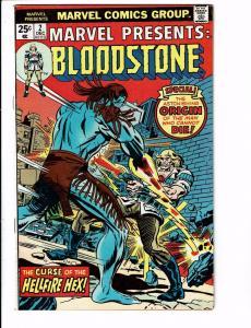 Marvel Presents # 2 FN/VF Feat. Bloodstone Comic Book Origin Bronze Age J59