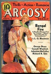 Argosy Pulp September 5 1936- Gun for a Gringo- Bengal Fire VG