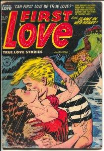 First Love #30 1953-Harvey-headlight cover=Bob Powell-fix your face-G