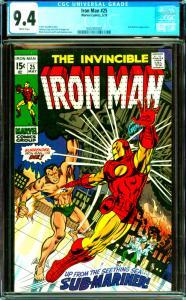 Iron Man #25 CGC Graded 9.4 Sub-Mariner Appearance