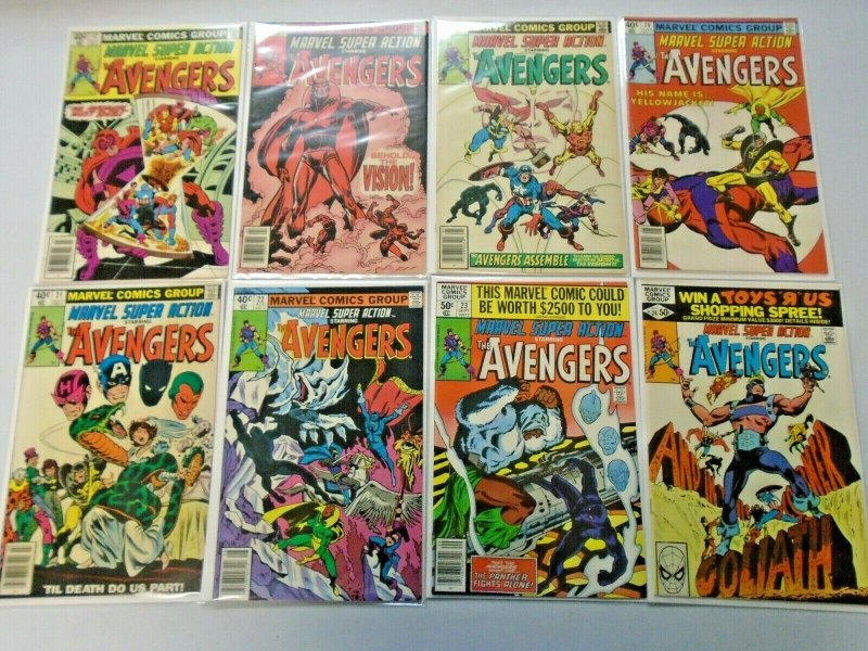 Marvel Super Action Comic Lot From: #1-36 36 Different Average 7.0 (1977-1981)