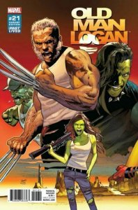 OLD MAN LOGAN #21 GREG LAND Retailer Incentive Variant NM Marvel Comics