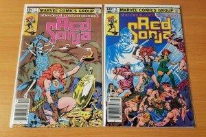 Red Sonja v2 1-2 Complete Set Run! ~ NEAR MINT NM ~ 1982 Marvel Comics