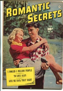 Romantic Secrets #28 1952-Fawcett-photo cover-Cary Grant-outstanding art-FN-
