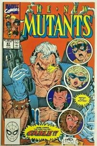 NEW MUTANTS#87 NM 1990 FIRST CABLE MARVEL  COMICS