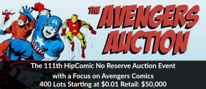 The 111th HipComic No Reserve Auction Event
