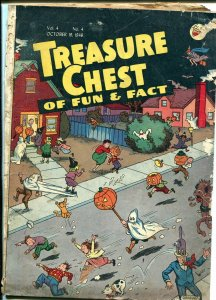 Treasure Chest Vol. 4 #4 1948-Halloween-Graham Hunter-intersting issue-G+