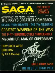 Saga Pulp Magazine December 1961- Yank Magazine Pinups- MacArthur VG