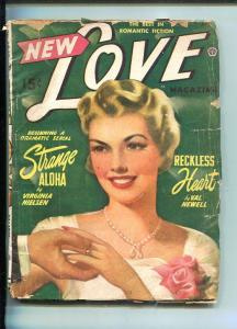 NEW LOVE-APR 1949-ROMANTIC PULP FICTION- PIN-UP GIRL COVER-NIELSEN-fr/good