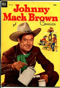 Johnny Mack Brown-Four Color Comics #455 1953-Dell-photo cover-B-Western-FN-